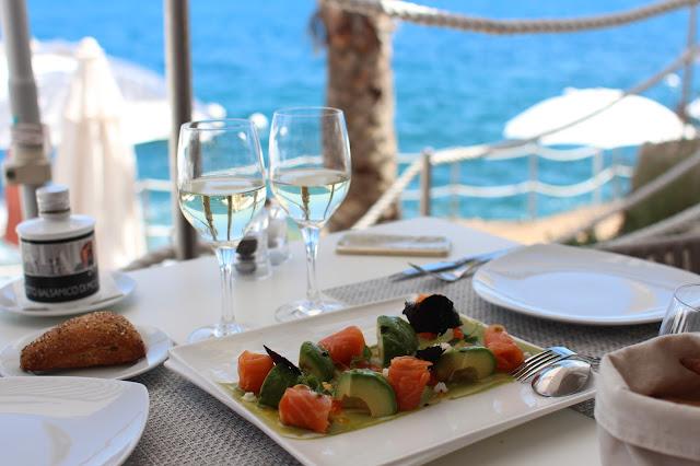 la cigale vista beach restaurant costa azzurra