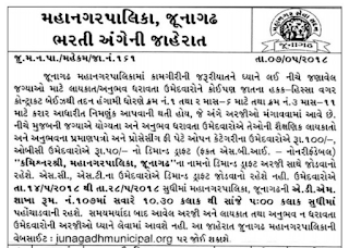 Junagadh Municipal Corporation (JMC) Previous Question Papers, Vigilance Officer