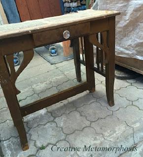 Реставрируем старый столик