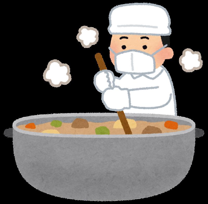 大きな鍋で料理をする人のイラスト かわいいフリー素材集 いらすとや