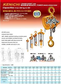 Jual Takel Chain Block Hoist Kenichi Terlengkap