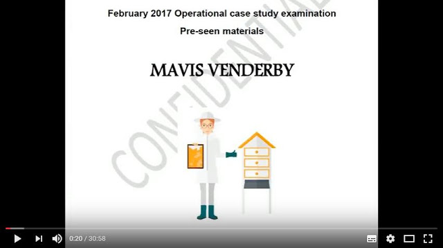 Operational Case Study May 2017 - CIMA (OCS) - MAVIS VENDERBY  - Pre-seen video analysis