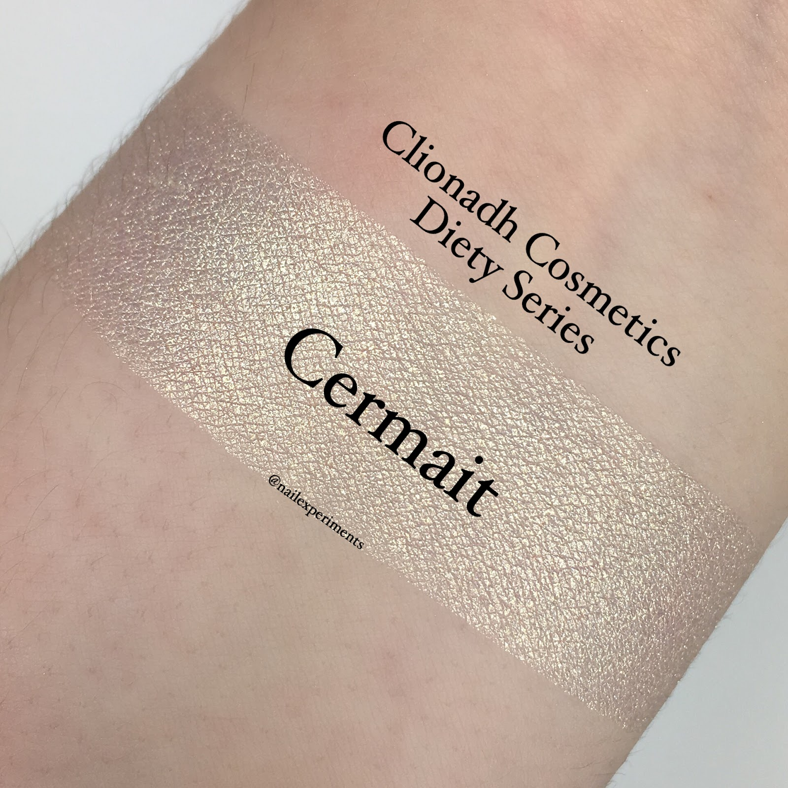 Nailexperiments swatches Cermait from  Clionadh Cosmetics