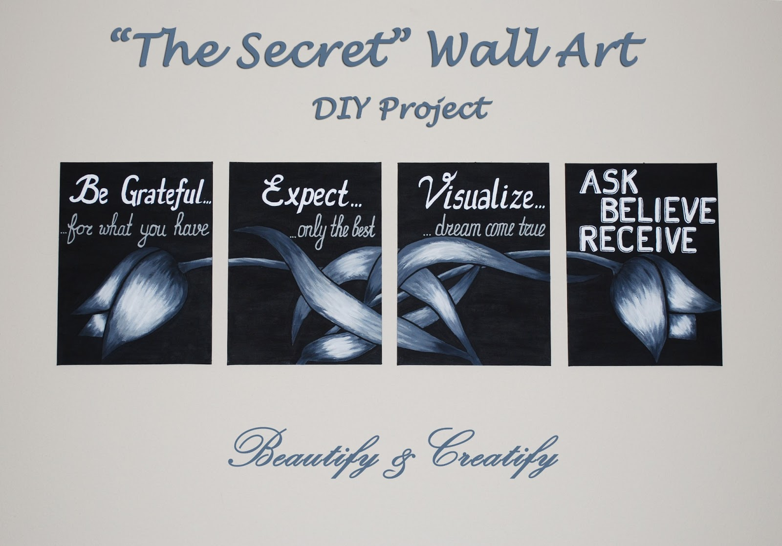 beautify and creatify the secret wall art diy project