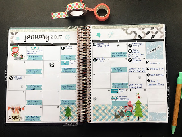 The monthly layout for January in my Erin Condren Life planner.