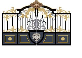 Desain Pintu Gerbang Besi tempa