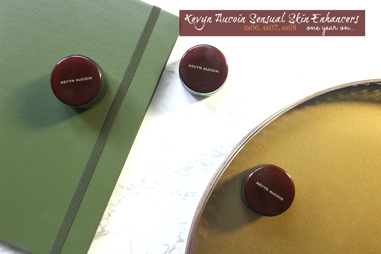 kevyn aucoin sensual skin enhancer sx06, sx07, sx08 review and swatches