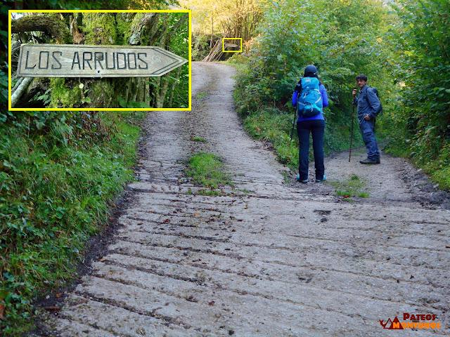 Desfiladero de Los Arrudos: Desvío en Fresnéu