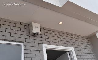 sensor otomatis infra merah di setiap sudut rumah savasa deltamas nurul sufitri blogger panasonic home network system