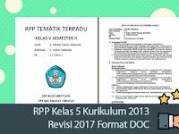RPP Kelas 5 Kurikulum 2013 Revisi 2017 Format DOC