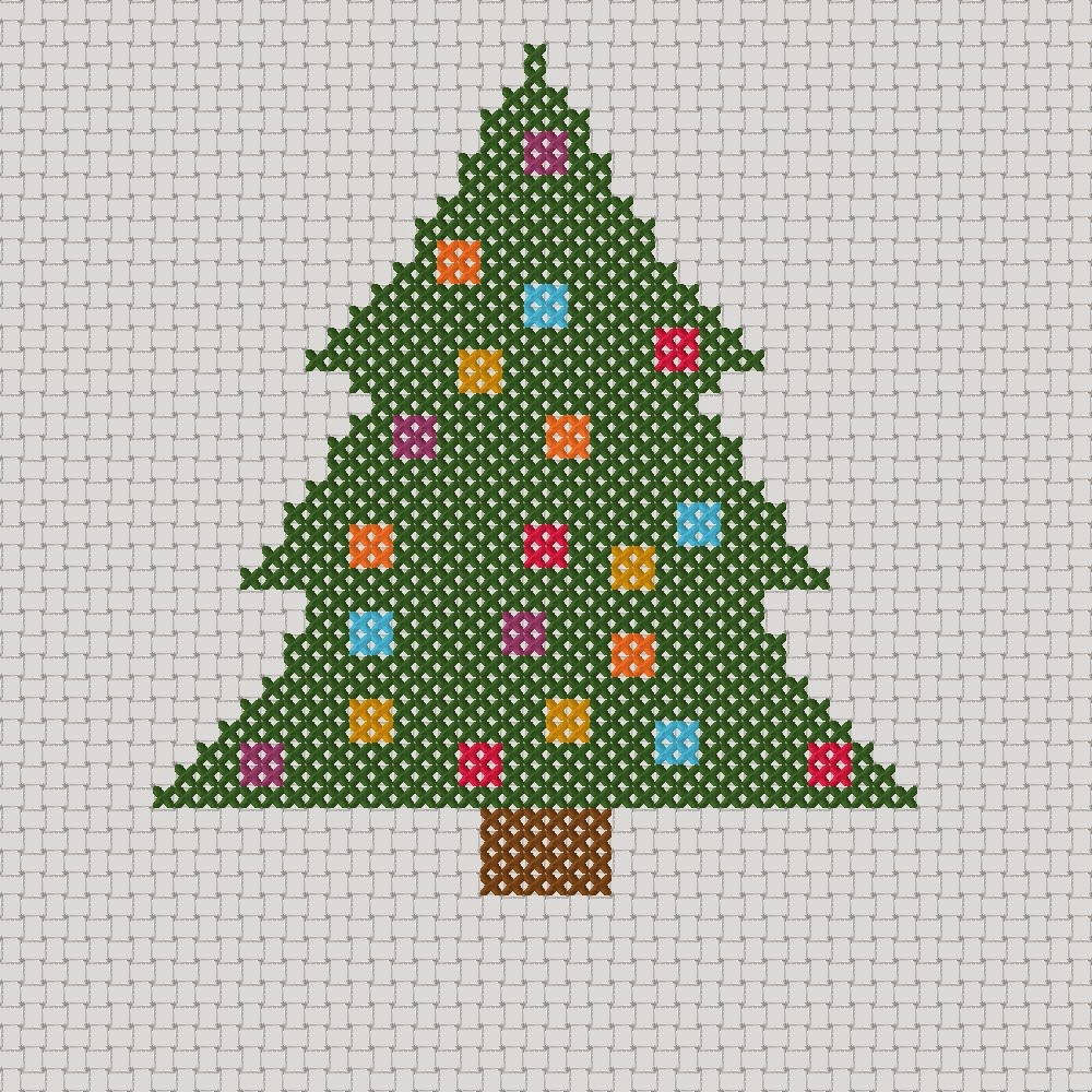 Free Christmas Tree With Baubles Cross Stitch Pdf Pattern