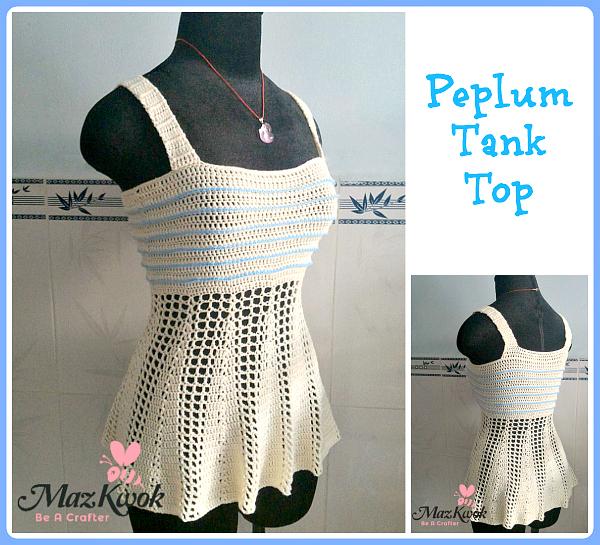 Peplum Tank Top Free Crochet Pattern