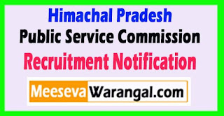 HPPSC (Himachal Pradesh Public Service  Commission) Recruitment Notification 2017