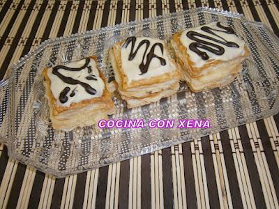 Pastelitos De Milhojas De Crema Con Cobertura ( Paso A Paso)