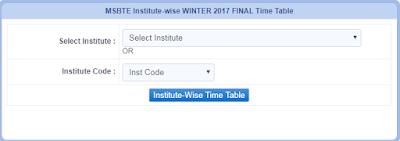 MSBTE TIME TABLE W17 WINTER 2017 (**Final**)