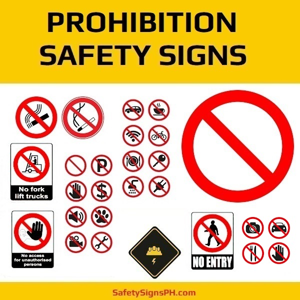 Prohibition Safety Signs Philippines