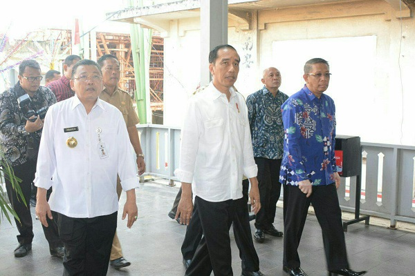 Ada 5 Pasar di Kalbar Serempak Diresmikan Jokowi