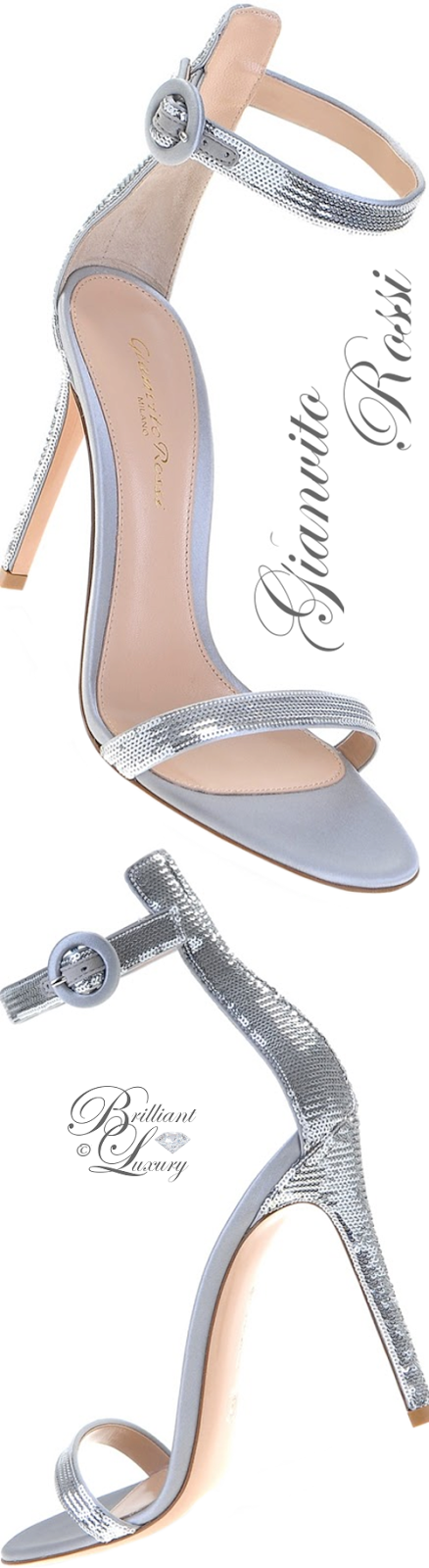 Brilliant Luxury ♦ Gianvito Rossi Palladium Sandals