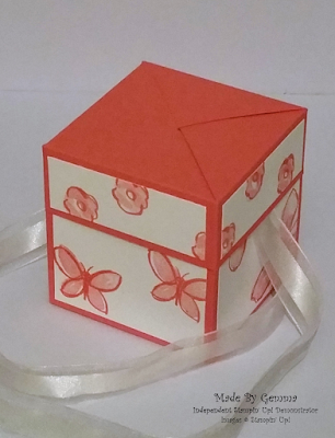 Stampin'Up! gift box top view