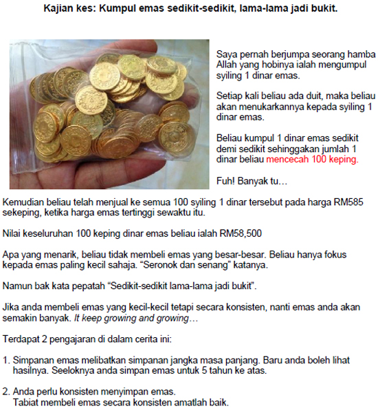 Kajian kes cara jadi jutawan emas