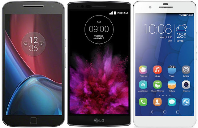 Motorola Moto G4 Plus vs LG G Flex 2 vs Huawei Honor 6 Plus