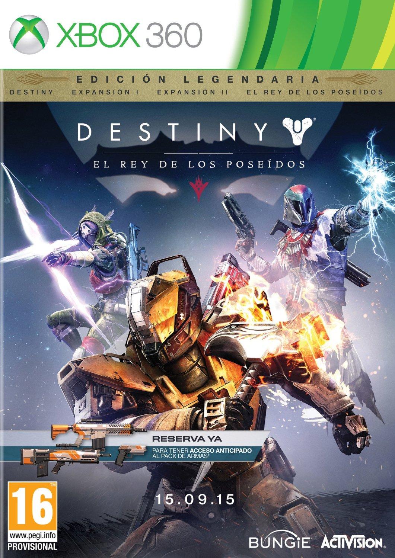 Destiny El Rey De Los Poseidos ESPAÑOL XBOX 360 Cover Caratula
