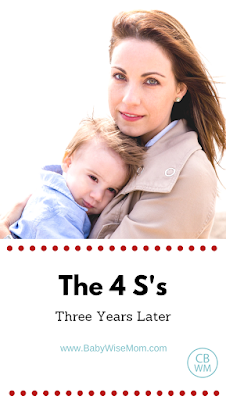The 4 S's (three years later) | sleep training | #sleeptraining