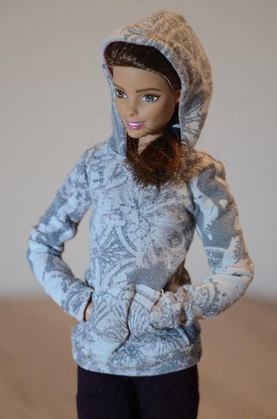 Hoodie for Barbie doll.