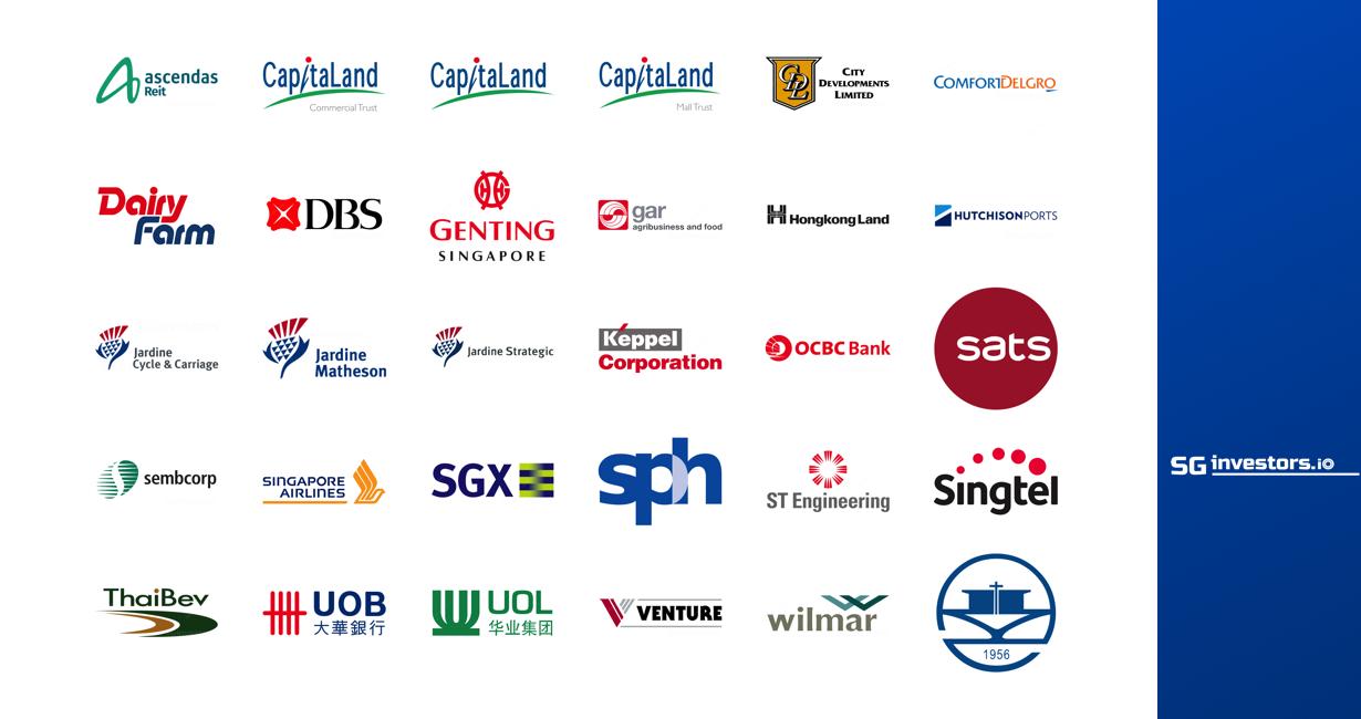 FSSTI Straits Times Index Constituents | SGinvestors.io