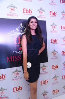 Model Shreya Kamavarapu in Short Black Dress at FBB Miss India 2017 finalists 045.JPG