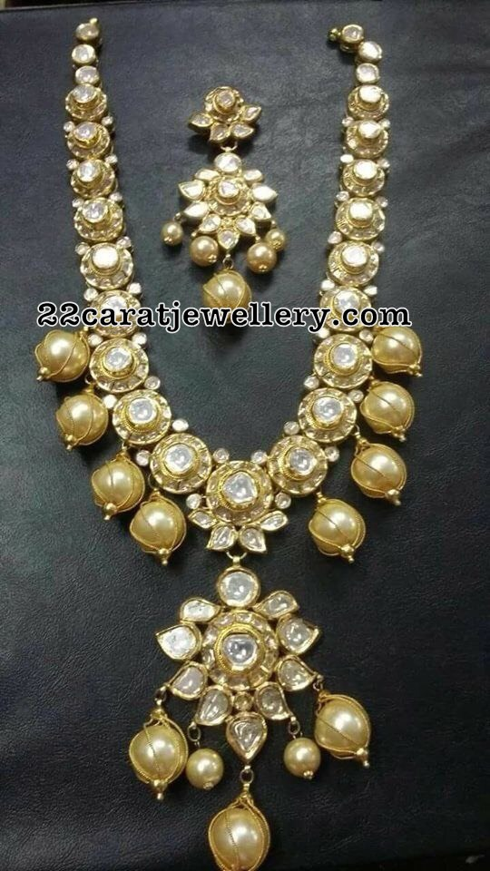 Pachi Kundan Necklace with Large Pearls