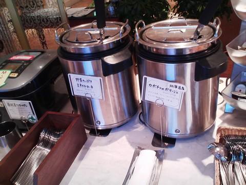 ビュッフェコーナー:スープ オーセントホテル小樽カサブランカ