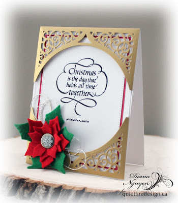 Diana Nguyen, Christmas is the day, Quietfire Design, Christmas, Spellbinders, bliss pockets