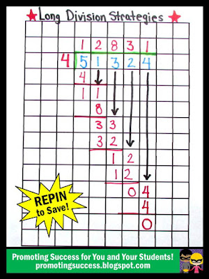 long division strategies graph paper
