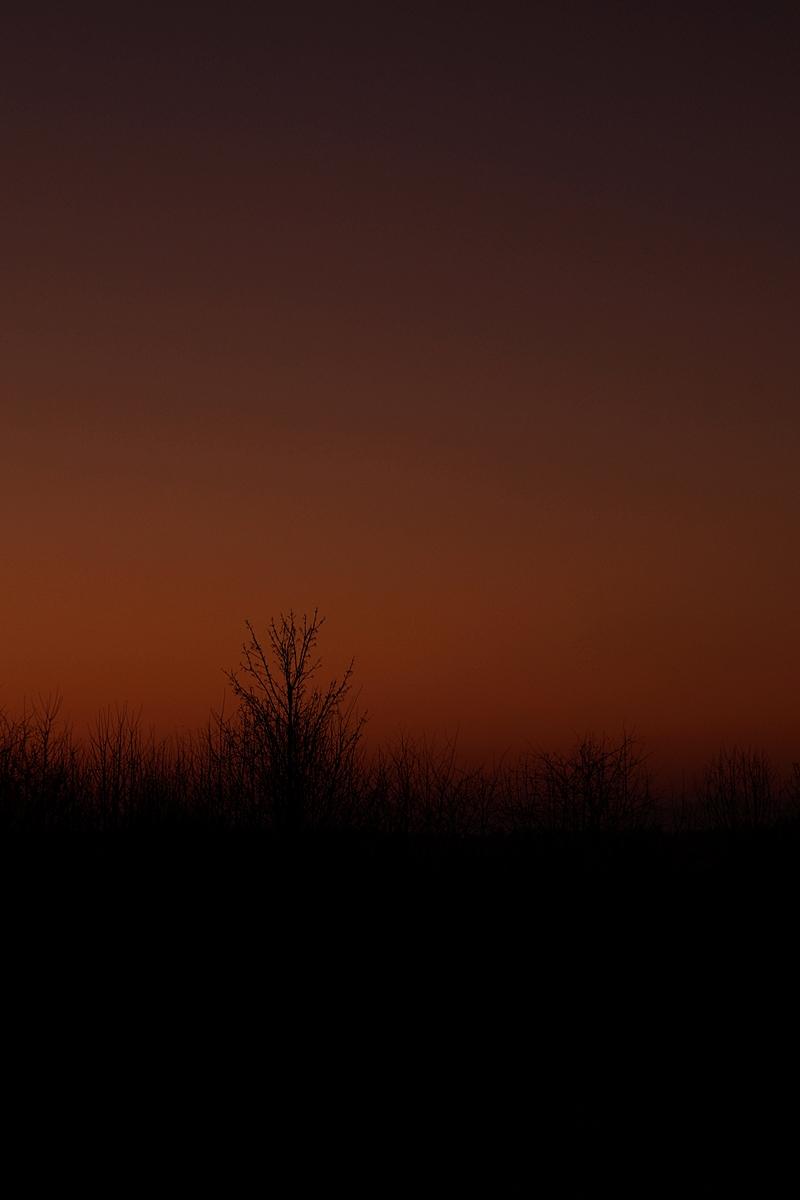 Dark evening sky in winter // Dunkler Abendhimmel im Winter