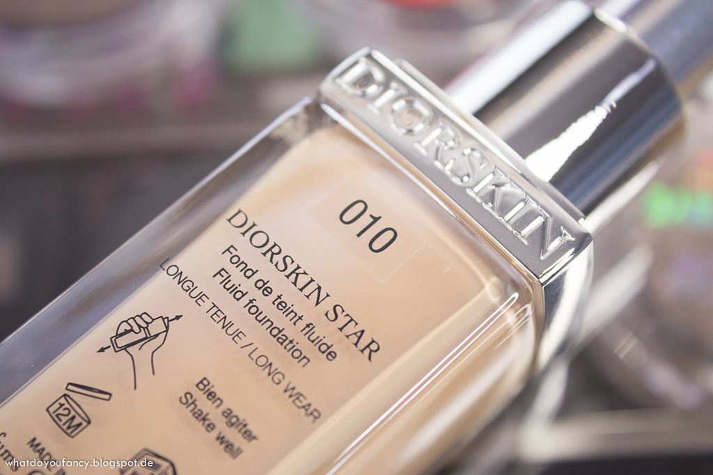 Review Swatches Tragebilder neue Dior Diorskin Star Foundation 010 Ivory