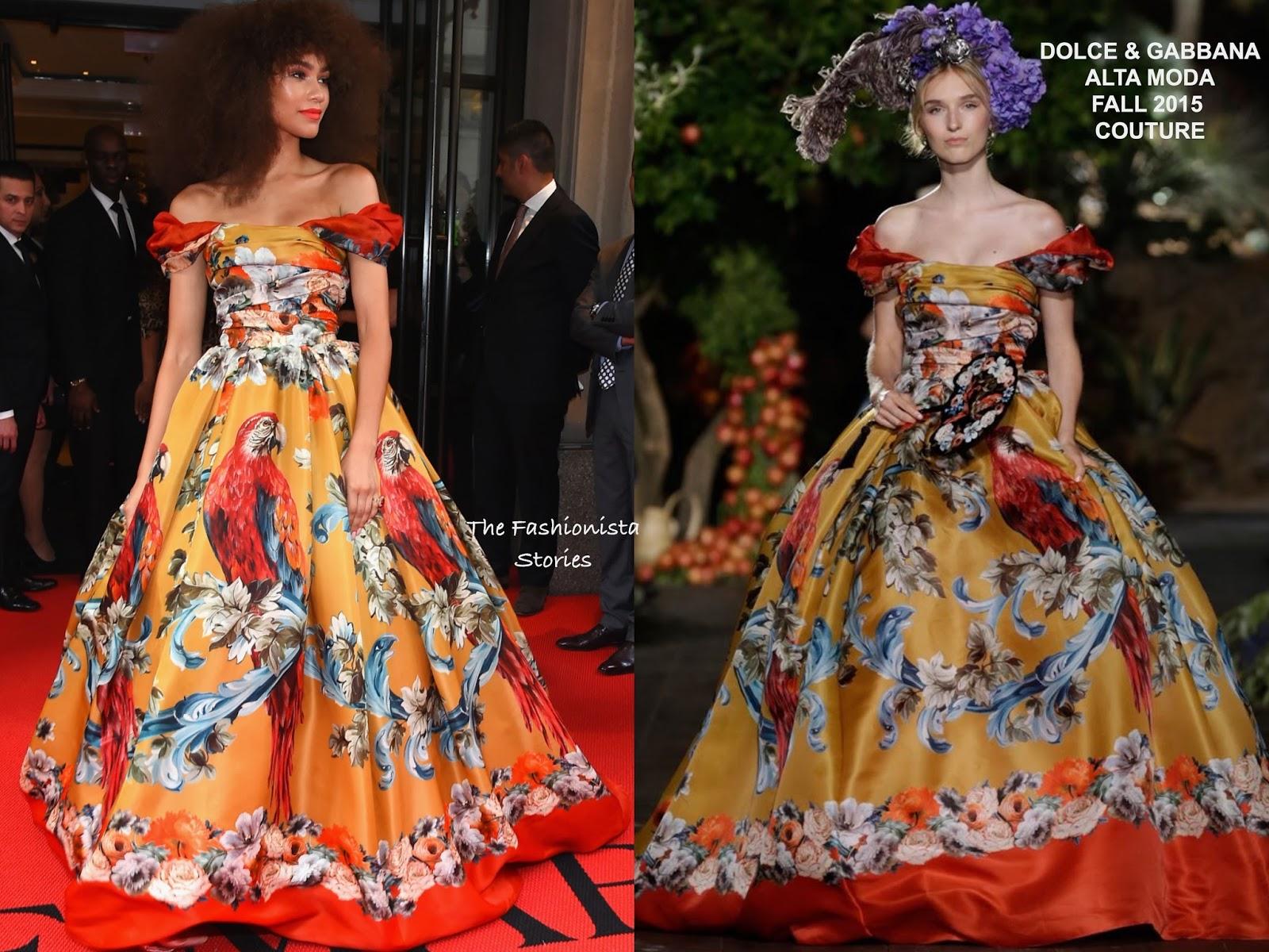 buy popular 50540 f196f Zendaya in Dolce & Gabbana Alta Moda Couture at the 2017 MET ...