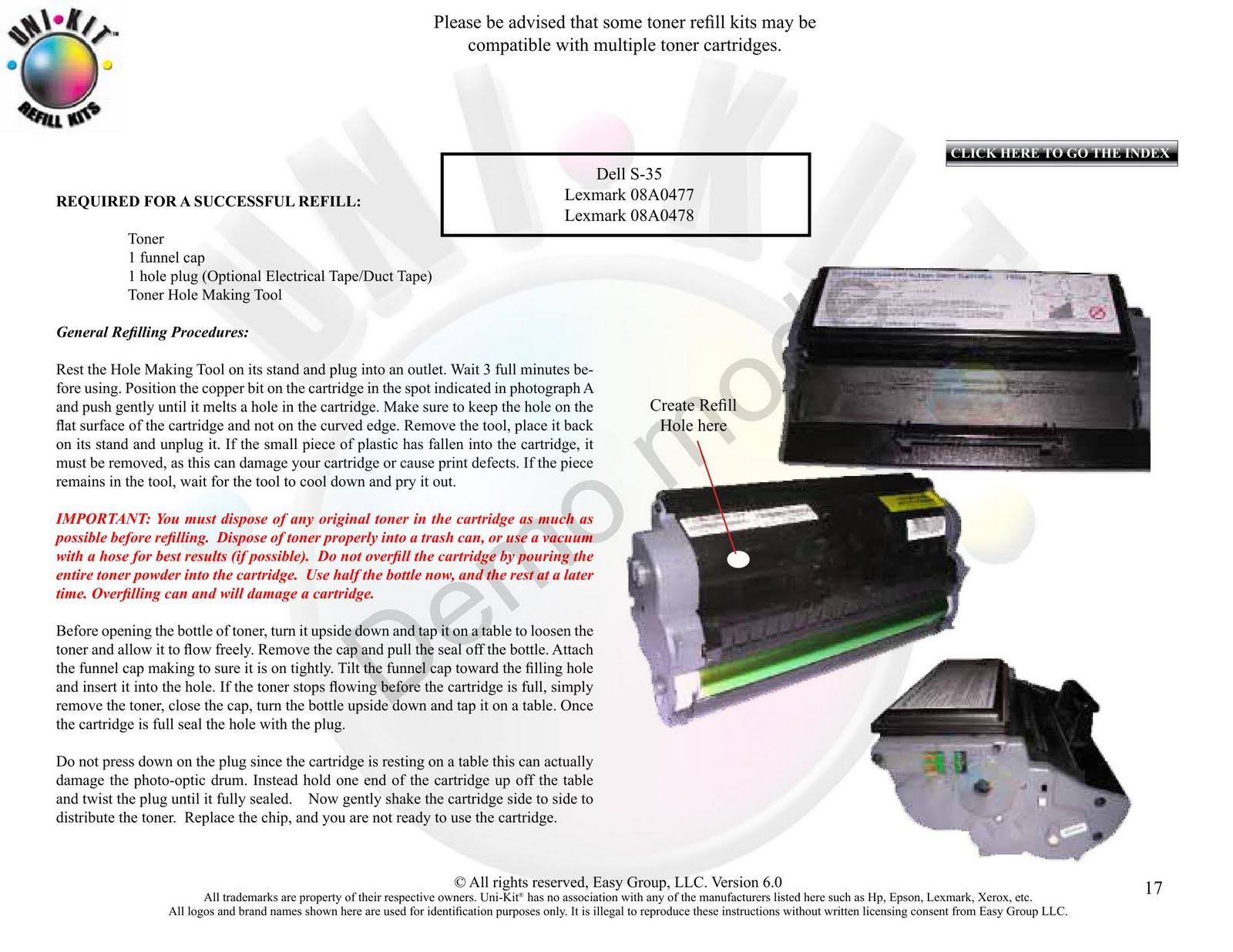 Samsung ml 2010 toner refill instructions