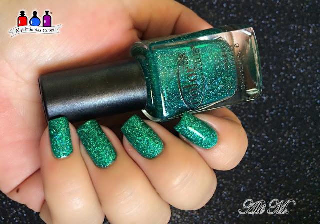Color Club, Holiday Splendor, Sugar Bubbles, SB040, La Femme, Preto, Carimbado, Jelly, Verde, Glitter Holográfico