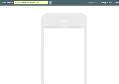 Responsinator Mobile friendly test