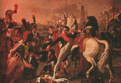 Painting of Larrey Tending Napoleon at the Battle of Ratisbon by Pierre-Claude Gautherot