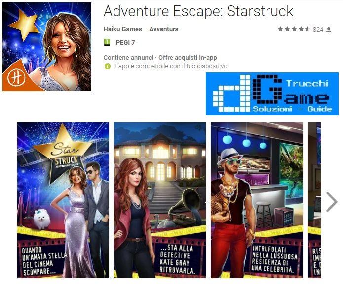 Soluzioni Adventure Escape: Starstruck
