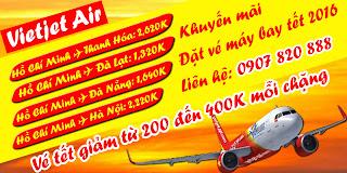 Giá vé máy bay tết 2016 của Vietjet Air
