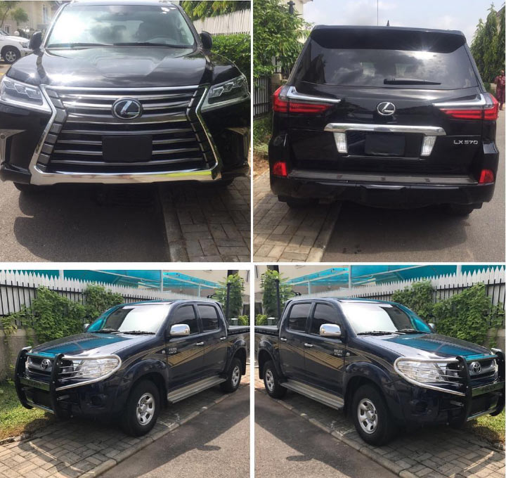 Tonto Dikeh gets N40m bulletproof 2017 Lexus Lx-570 and Toyota Hilux from hubby