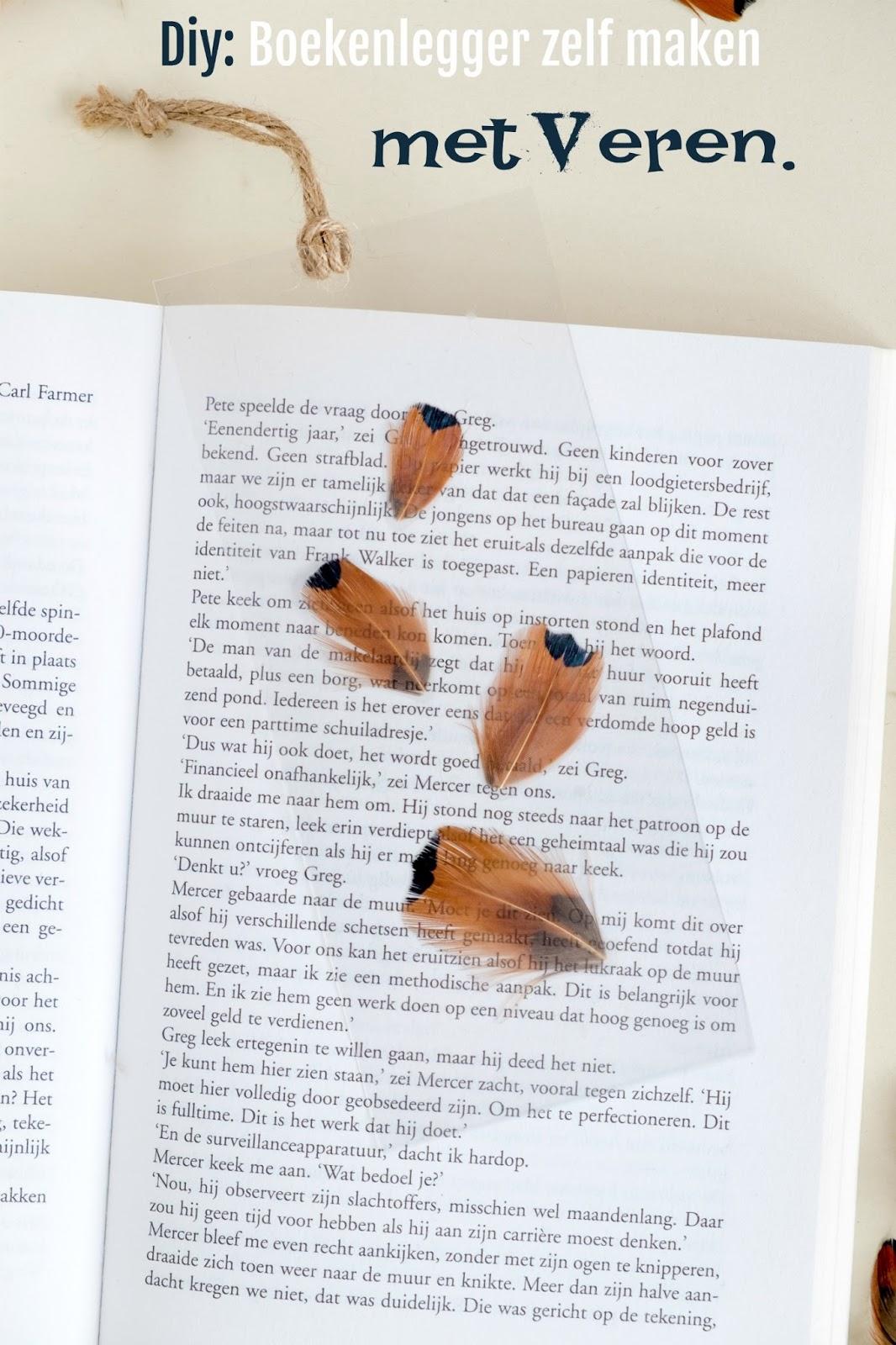 Diy: Boekenlegger zelf maken met veren