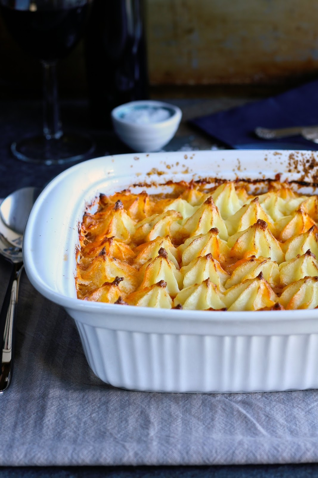 Easy shepherd's pie with lamb mince.