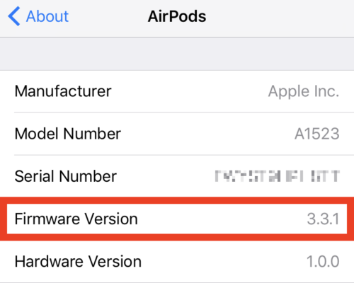 what's the latest airpods firmware