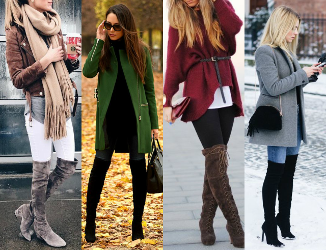 Como usar botas over the knee no inverno
