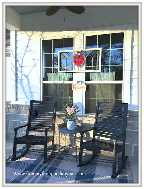 Valentines Day Front Porch-Rocking Chairs-Tin Hearts-From My Front Porch To Yours