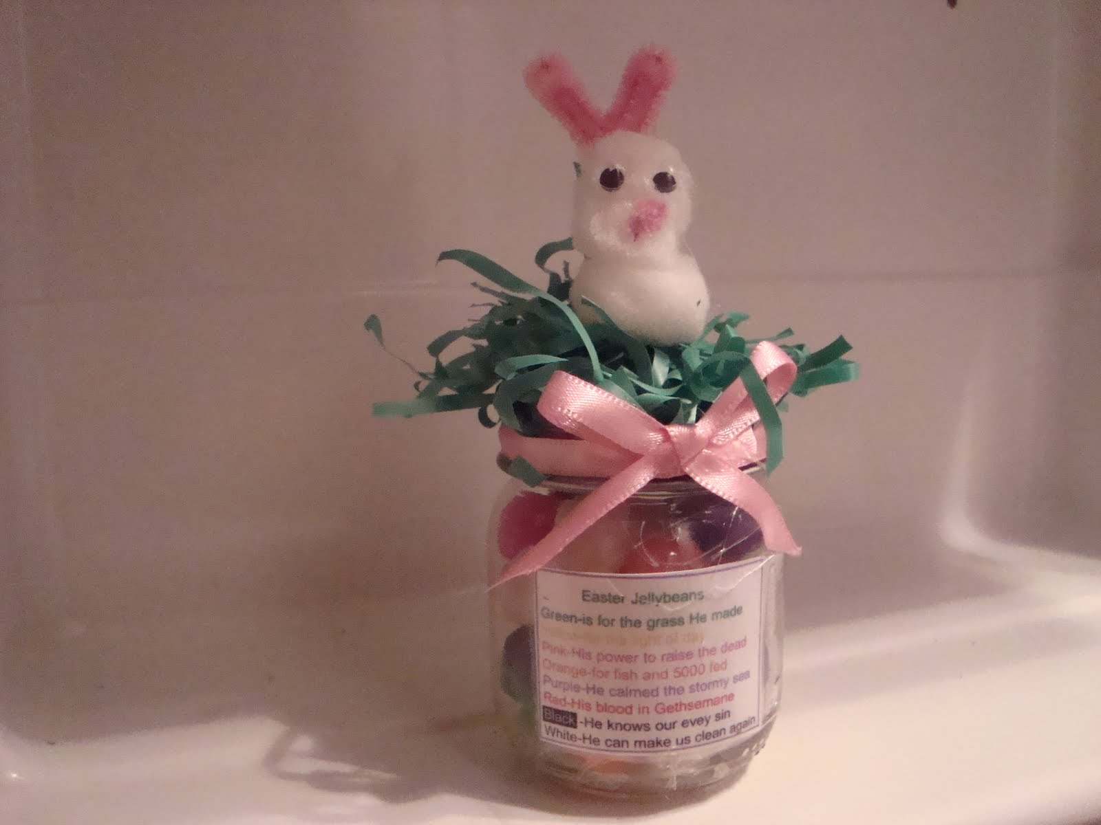 Activity Days Ideas Easter Jelly Bean Poem Jars